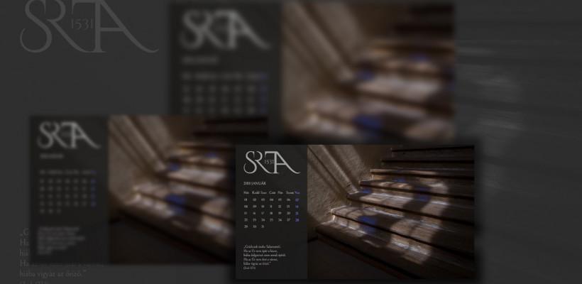 Januári háttérkép naptár