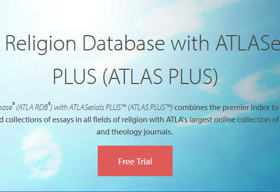 ATLA Religion Database with ATLASerials PLUS próbahozzáférés